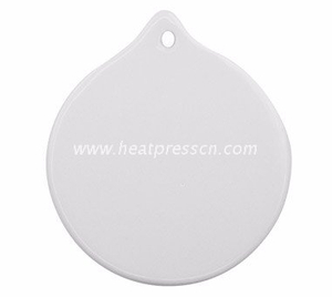 Round Shape Sublimation Ceramic Pendent with Rope CP-R