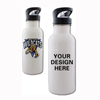 White Stainless Steel Sublimation Water Bottle with Straw Top (400ml)