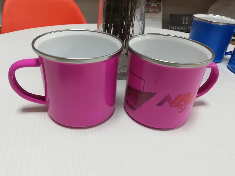 Sublimation Colorful Stainless Steel Enamel Mug (5)