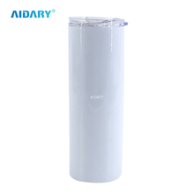 AIDARY Sublimation Stainless Steel Skinny Tubmlers With Straw