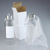 420ml Sublimation Glass Bottle with White Patch GB-420