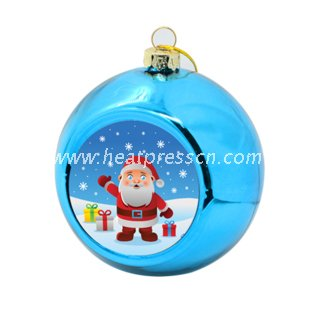 6cm Colorful Sublimation Plastic Christmas Ball
