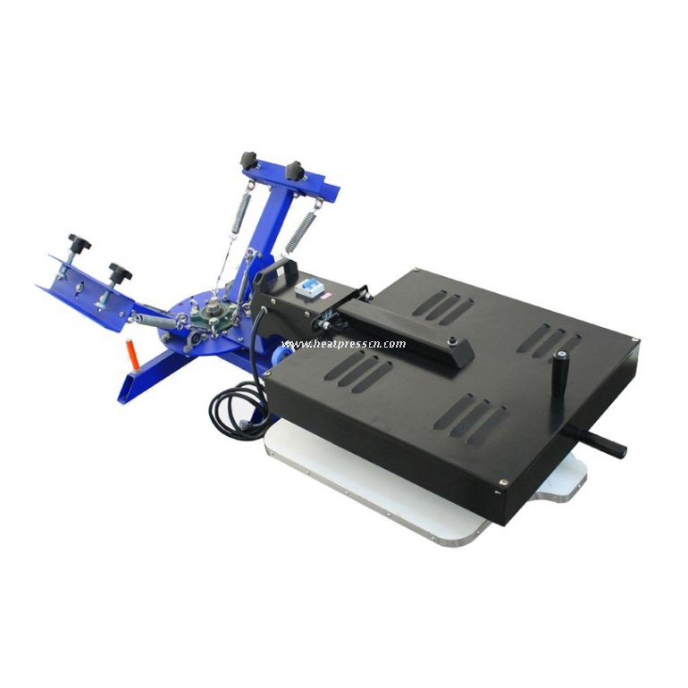 2 Color 1 Station Screen Press with Dryer
