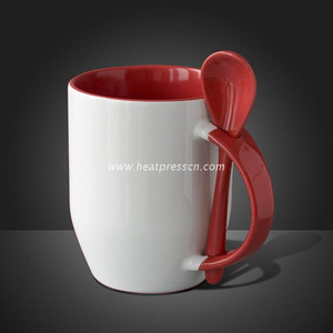 Inner &handle Colorful Sublimation Mug with Spoon SL