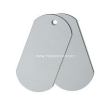 Double Sides Transfer Sublimation Metal Pendent with Chain