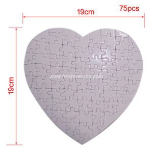 19*19CM Heart Sublimation Jigsaw Puzzle P26