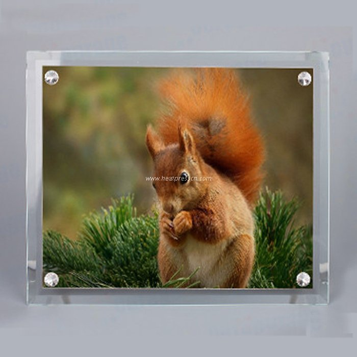 "10""Bevel Crystal Photo Frame with Four Holes BL09"