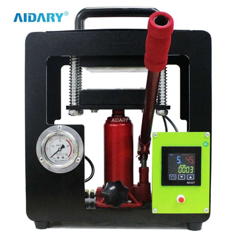 AIDARY 2021 NEW Manual Hydraulic Herb Rosin Press Machine with Pressure Gauge