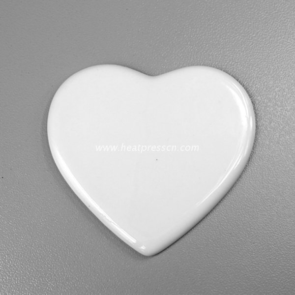 "6""heart Sublimation Procelain Ornament without Hole HPP6"