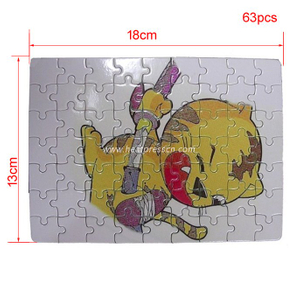 13*18CM 63pcs Sublimation Jigsaw Puzzle P13