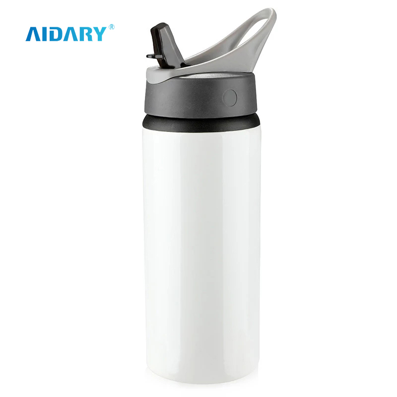 AIDARY Customized Logo Printable Aluminium Bottles Sublimation Portable Aluminium Water Bottle