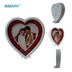 Heart Shape Changable Color LED Magic Photo Frame