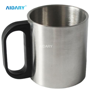 AIDARY Factory Price Plastic Handle Stainless Steel Mug