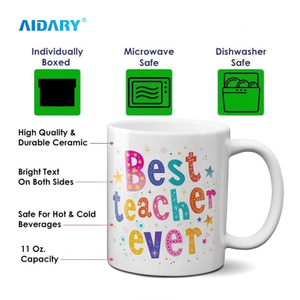 AIDARY Dis-washer more than 3000 times Sublimation Photo Mug